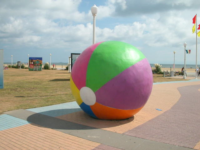 big beach ball art